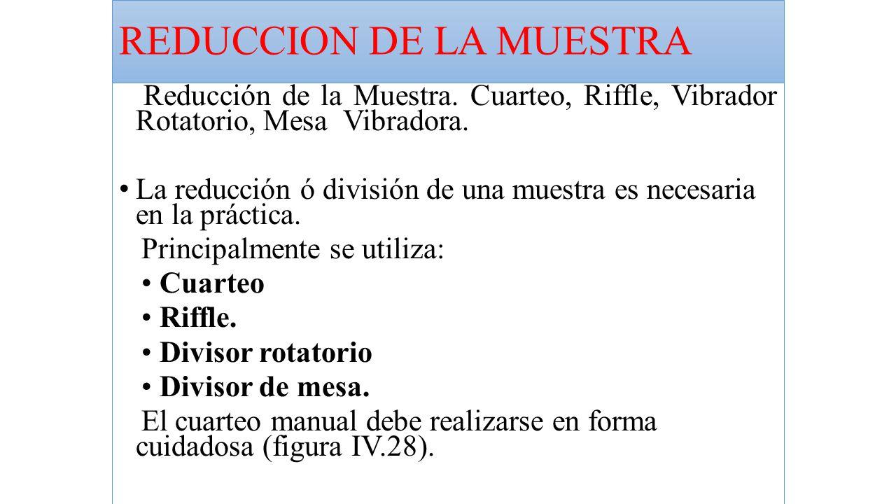REDUCCION DE LA MUESTRA