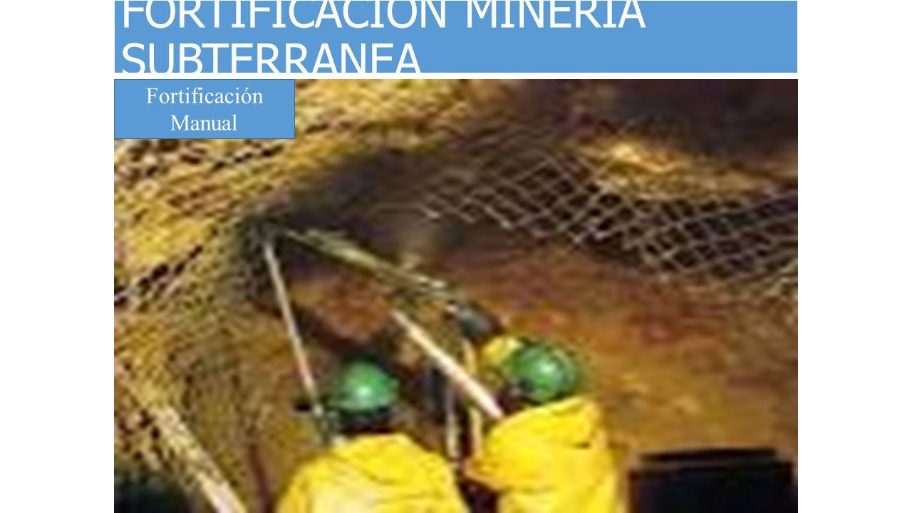 FORTIFICACION MINERIA SUBTERRANEA
