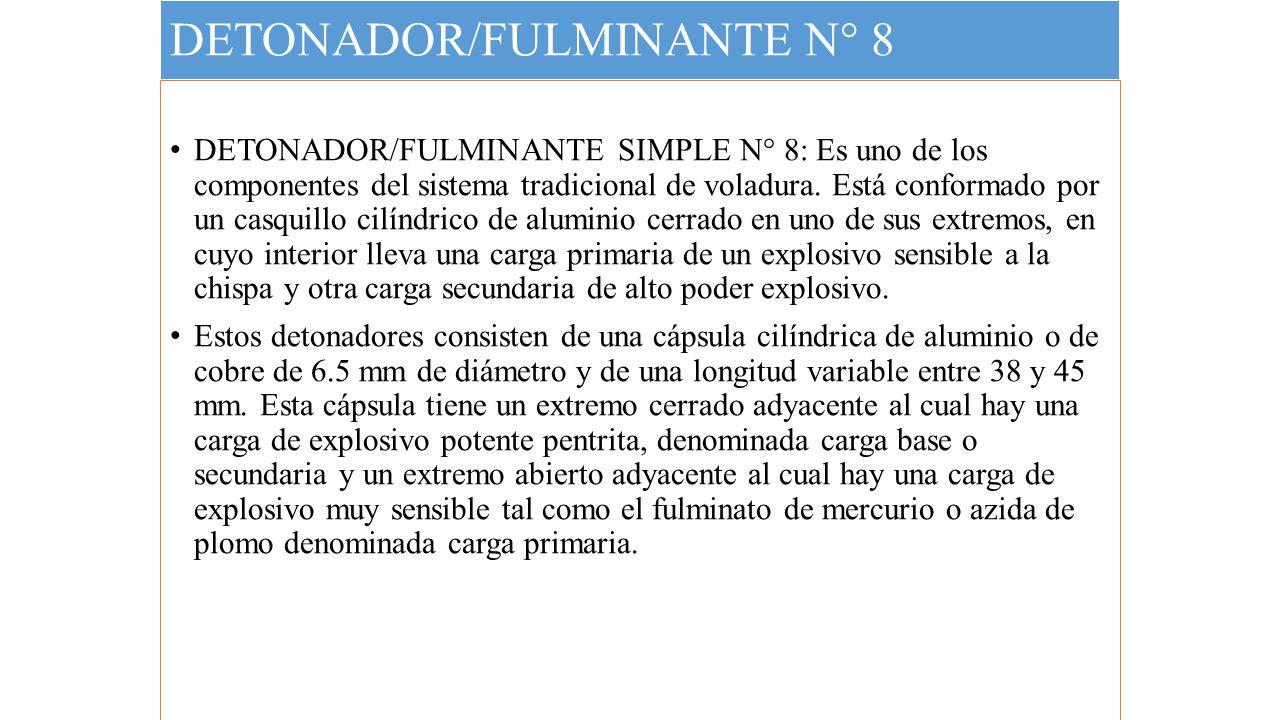 DETONADOR/FULMINANTE N° 8