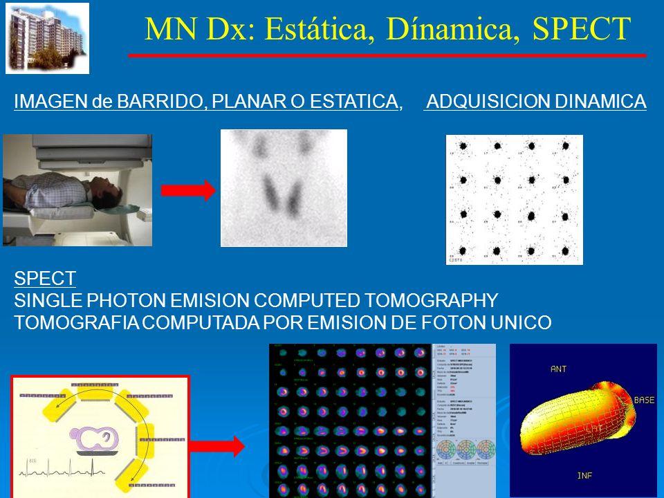 MN Dx: Estática, Dínamica, SPECT