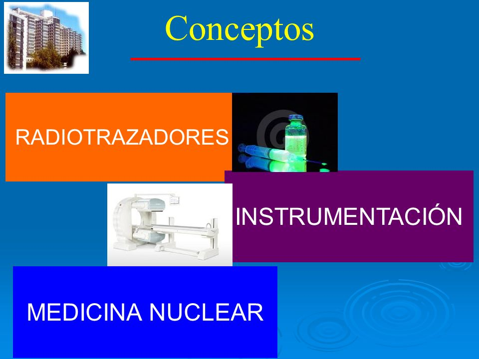 Conceptos RADIOTRAZADORES INSTRUMENTACIÓN MEDICINA NUCLEAR