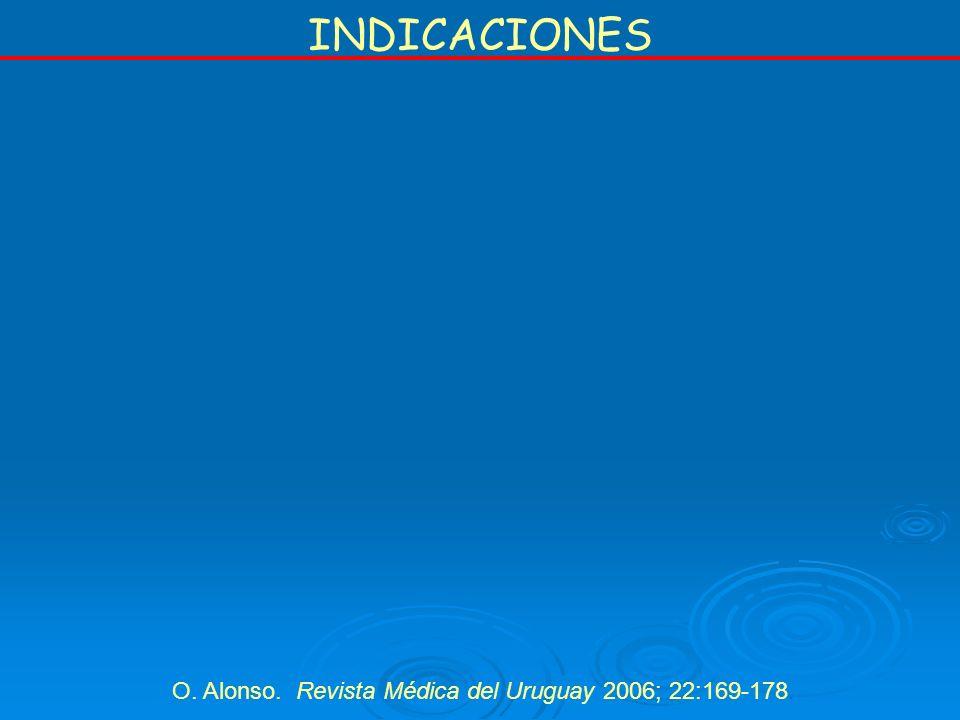 O. Alonso. Revista Médica del Uruguay 2006; 22:169-178.