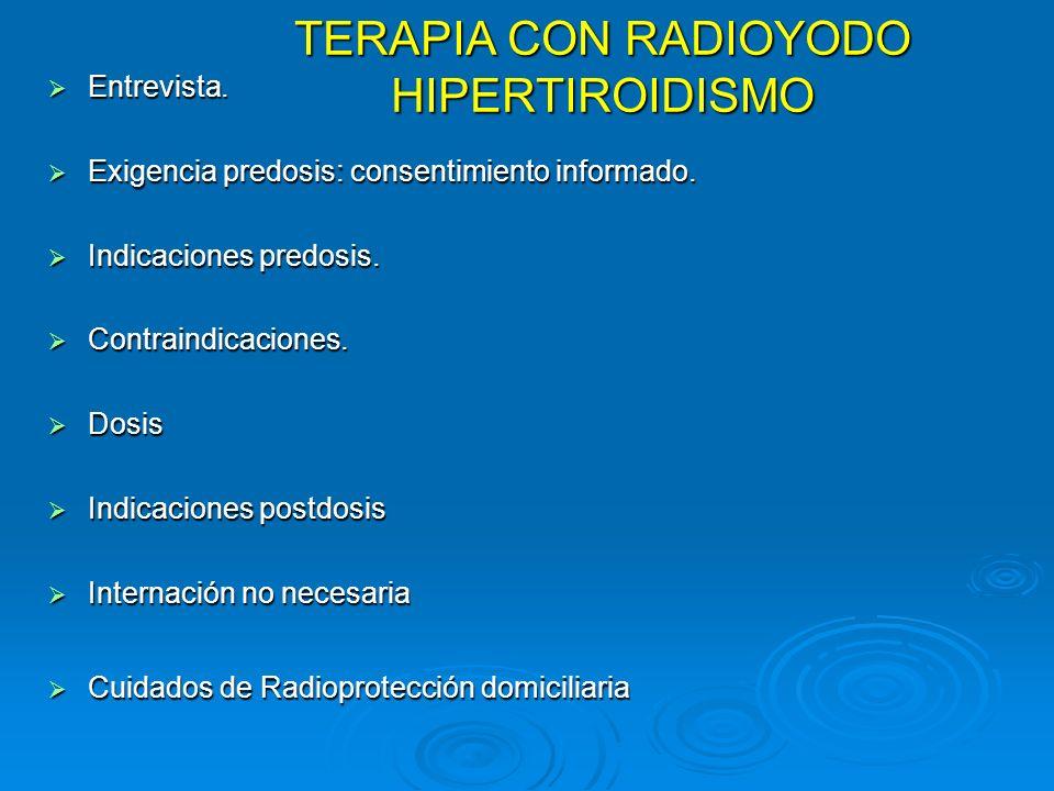 TERAPIA CON RADIOYODO HIPERTIROIDISMO