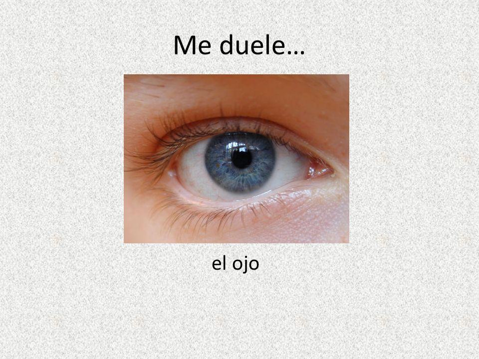 Me duele… el ojo