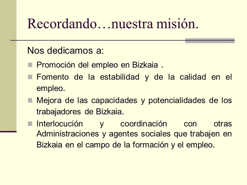 Recordando…nuestra misión.
