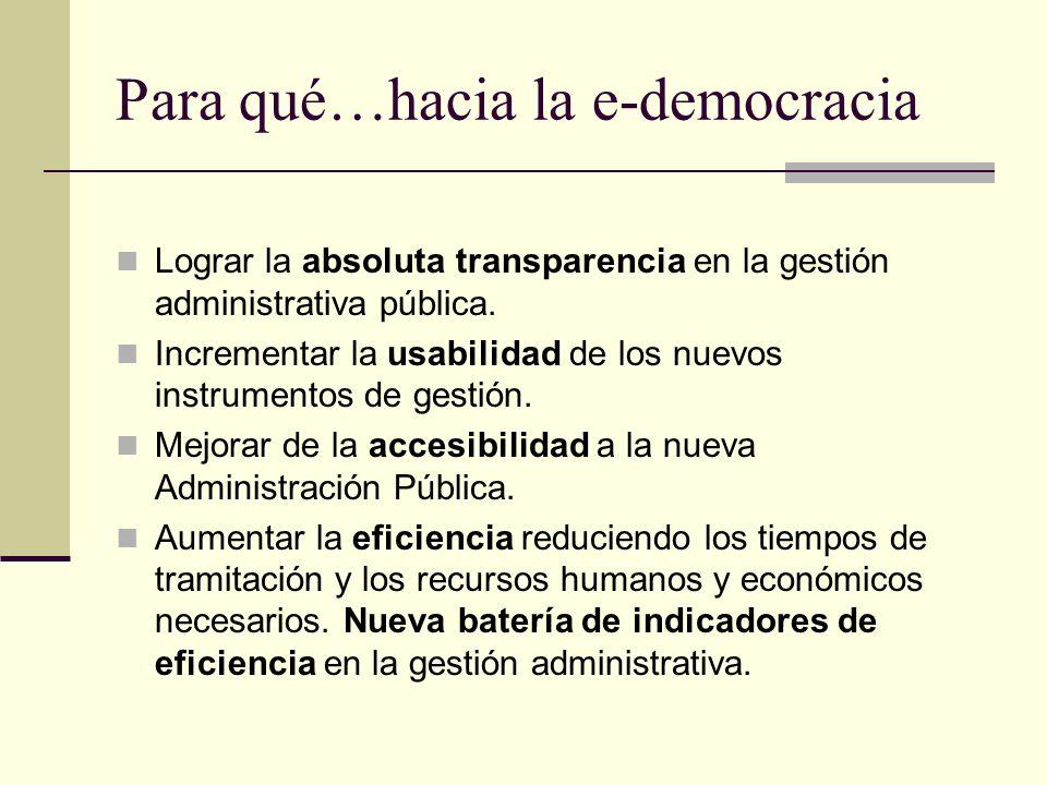 Para qué…hacia la e-democracia