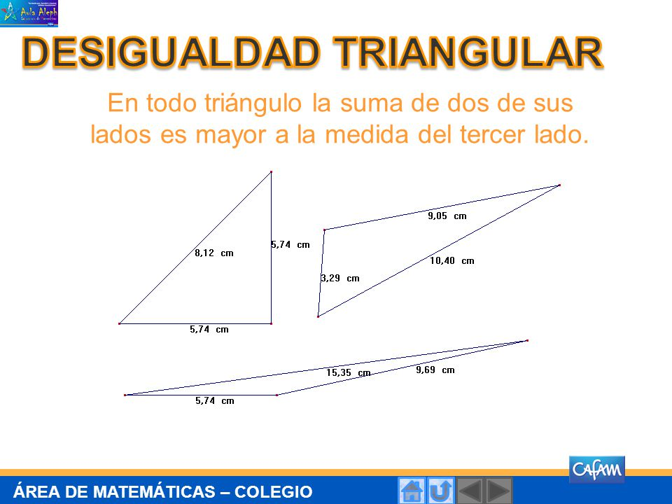 DESIGUALDAD TRIANGULAR