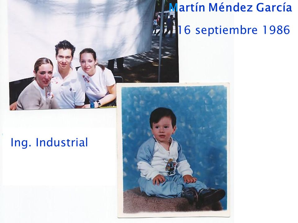 Martín Méndez García 16 septiembre 1986 Ing. Industrial