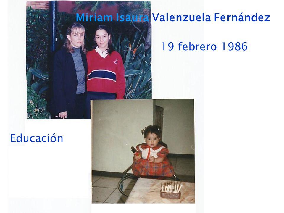 Miriam Isaura Valenzuela Fernández