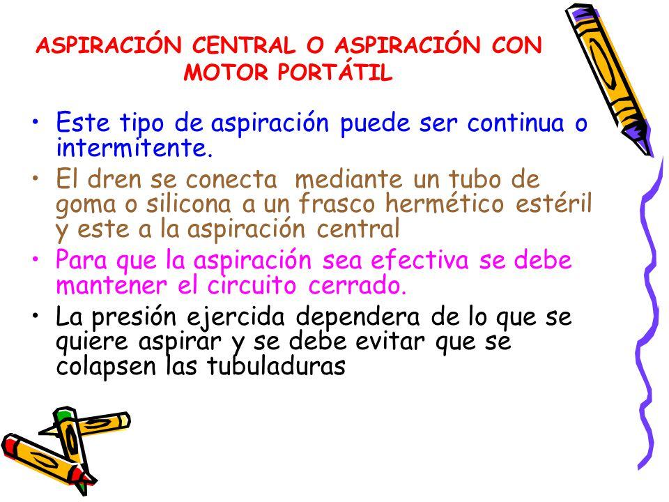 ASPIRACIÓN CENTRAL O ASPIRACIÓN CON MOTOR PORTÁTIL