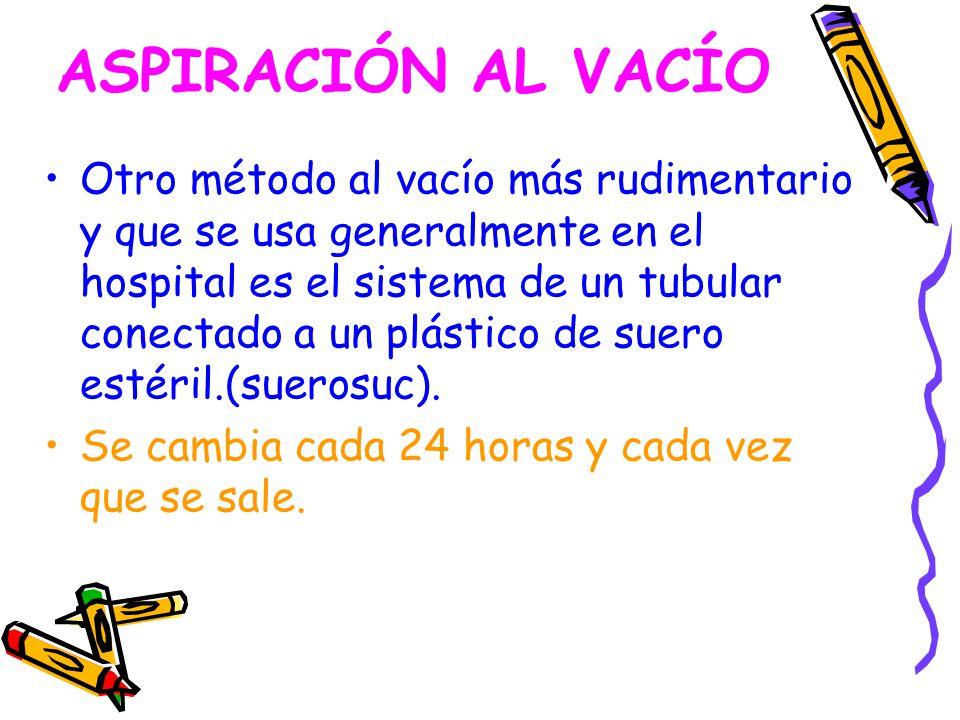 ASPIRACIÓN AL VACÍO