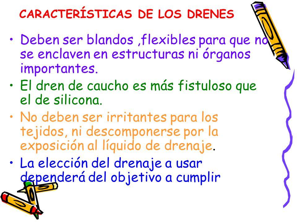 CARACTERÍSTICAS DE LOS DRENES