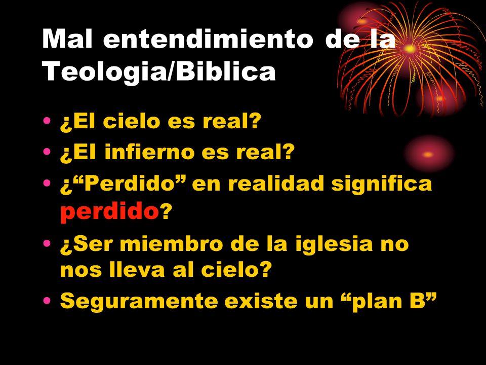 Mal entendimiento de la Teologia/Biblica