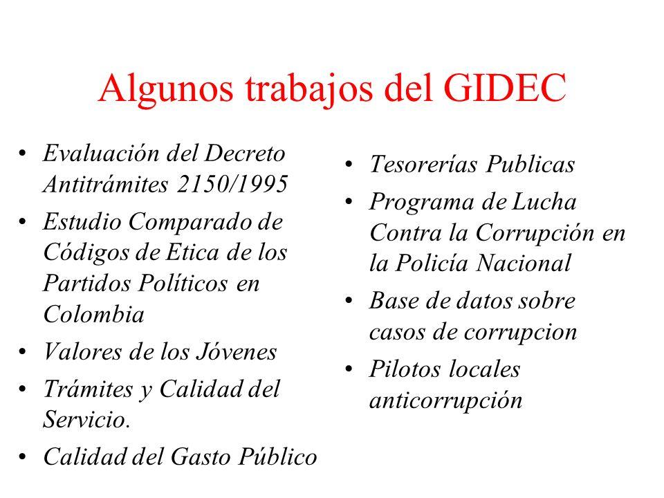 Algunos trabajos del GIDEC