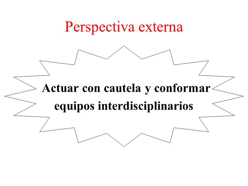 Perspectiva externa Actuar con cautela y conformar