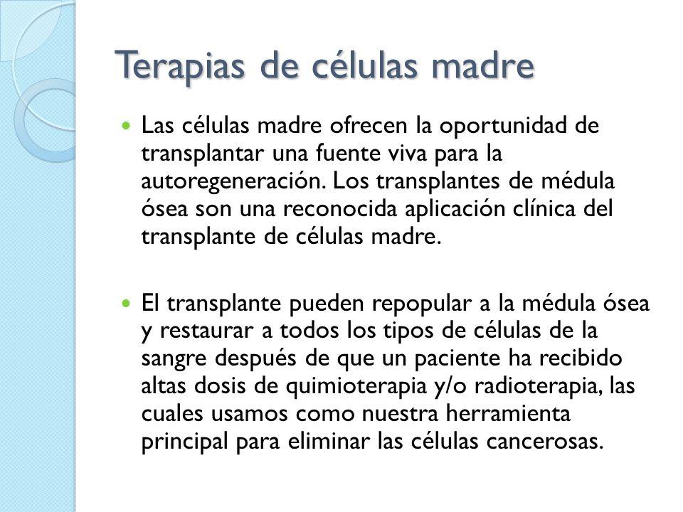 Terapias de células madre