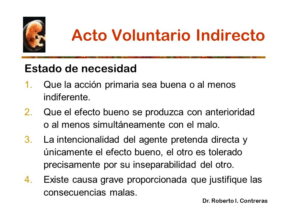 Acto Voluntario Indirecto