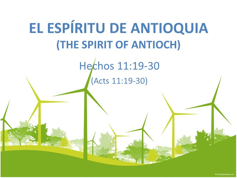 EL ESPÍRITU DE ANTIOQUIA (THE SPIRIT OF ANTIOCH)
