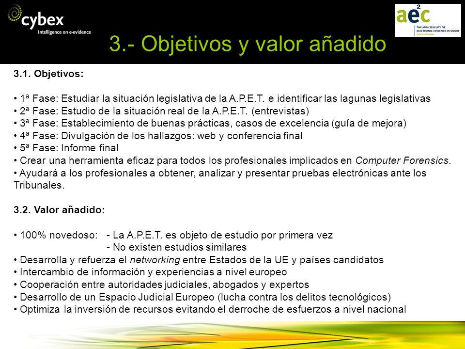 3.- Objetivos y valor añadido