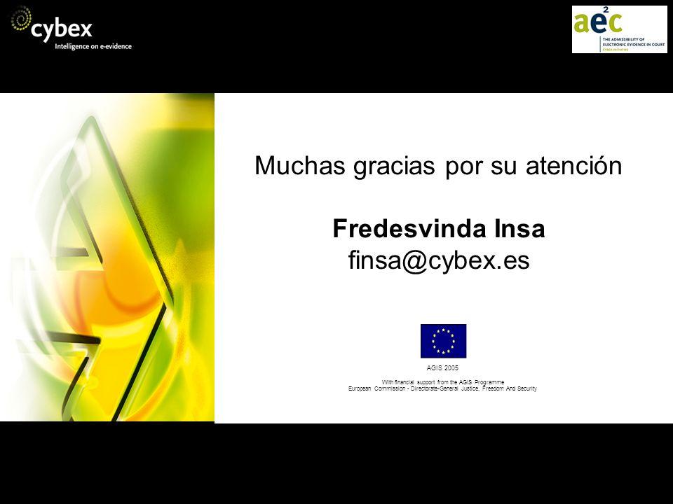 Muchas gracias por su atención Fredesvinda Insa finsa@cybex.es
