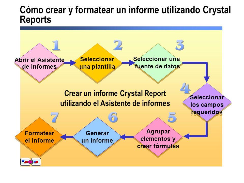 Cómo crear y formatear un informe utilizando Crystal Reports