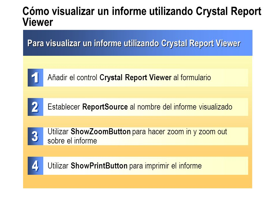 Cómo visualizar un informe utilizando Crystal Report Viewer