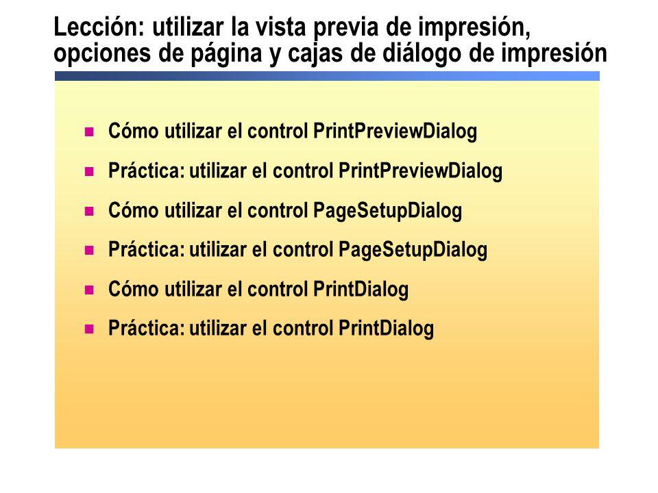 Lección: utilizar la vista previa de impresión, opciones de página y cajas de diálogo de impresión