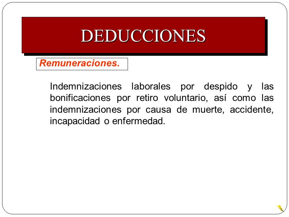 DEDUCCIONES Remuneraciones.
