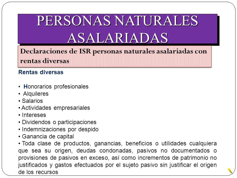 PERSONAS NATURALES ASALARIADAS