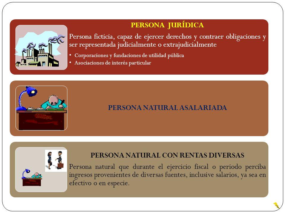 PERSONA NATURAL ASALARIADA PERSONA NATURAL CON RENTAS DIVERSAS