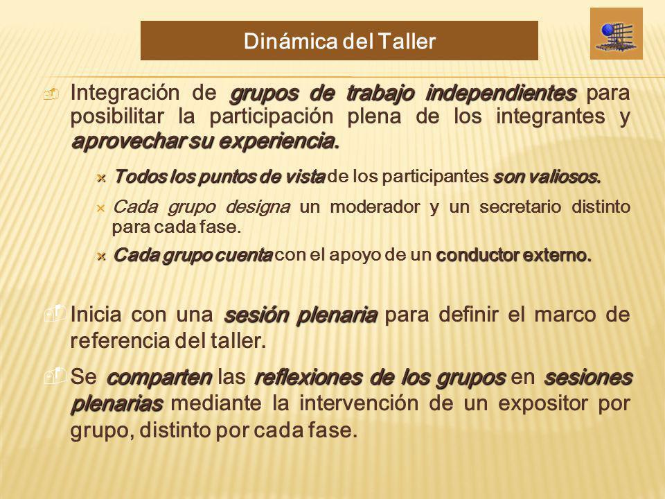 Dinámica del Taller