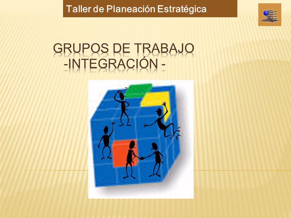 Grupos de Trabajo -Integración -