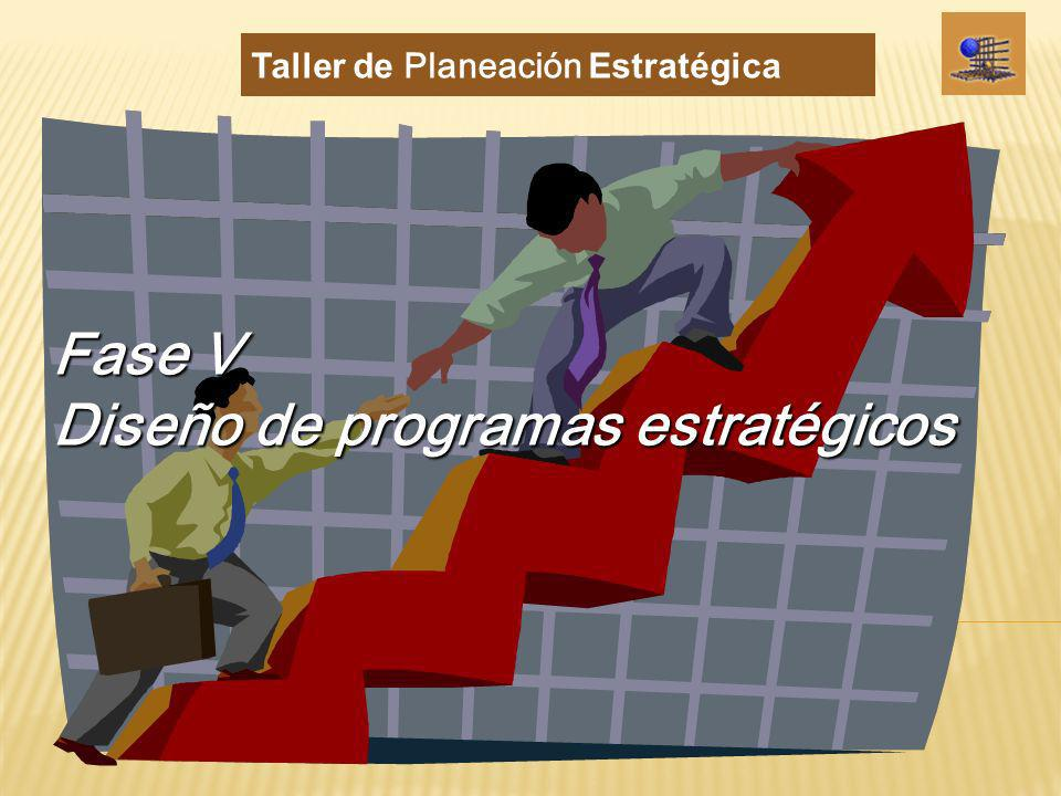 Fase V Diseño de programas estratégicos