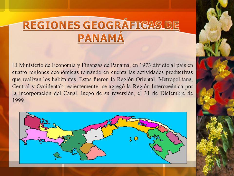 REGIONES GEOGRÁFICAS DE PANAMÁ