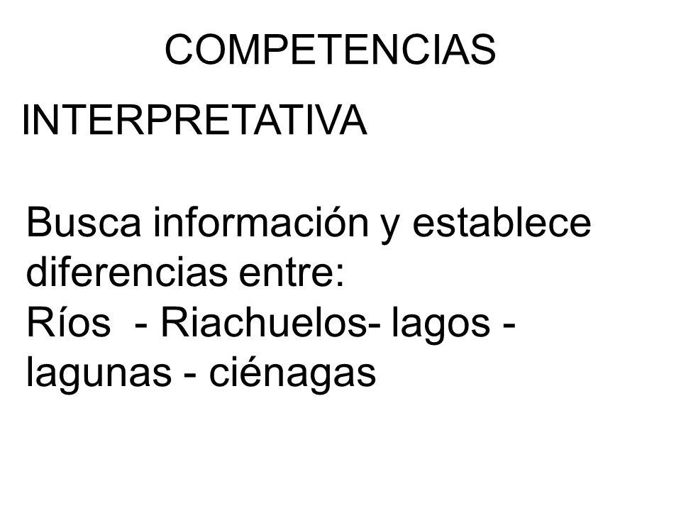 COMPETENCIAS INTERPRETATIVA.