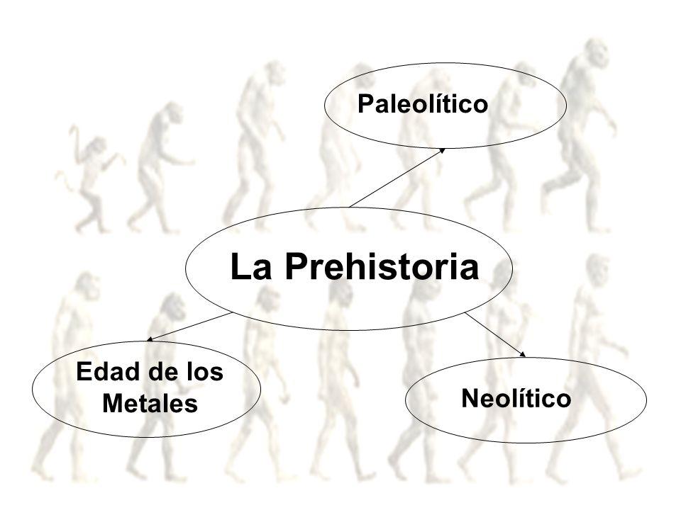 Paleolítico La Prehistoria Edad de los Metales Neolítico