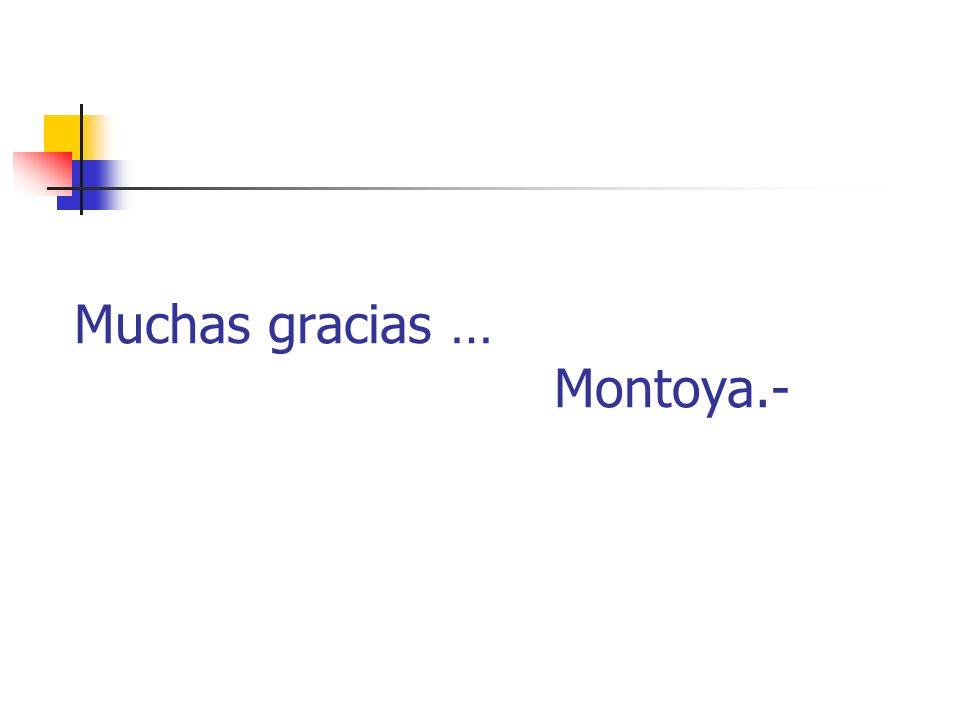 Muchas gracias … Montoya.-