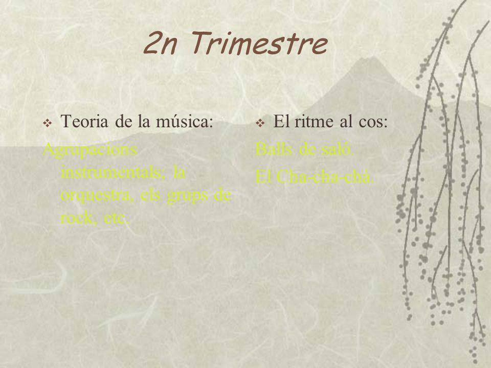 2n Trimestre Teoria de la música: