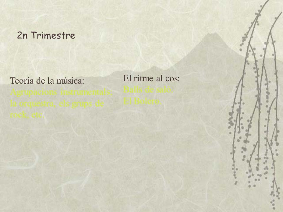 2n Trimestre El ritme al cos: Balls de saló. El Bolero.