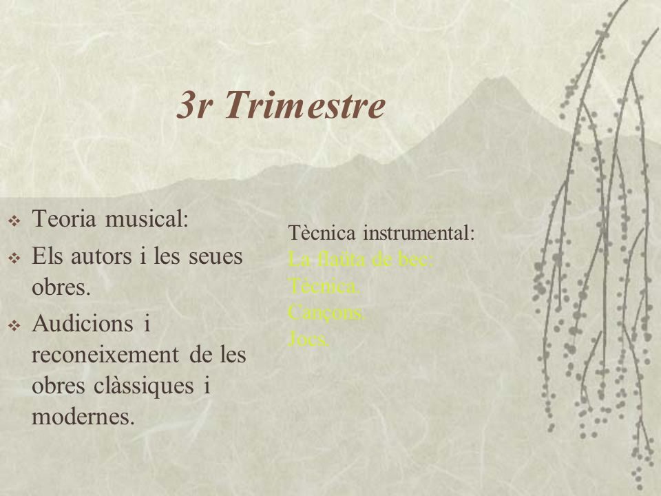 3r Trimestre Teoria musical: Els autors i les seues obres.