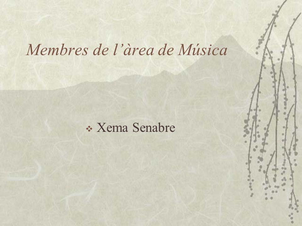Membres de l'àrea de Música