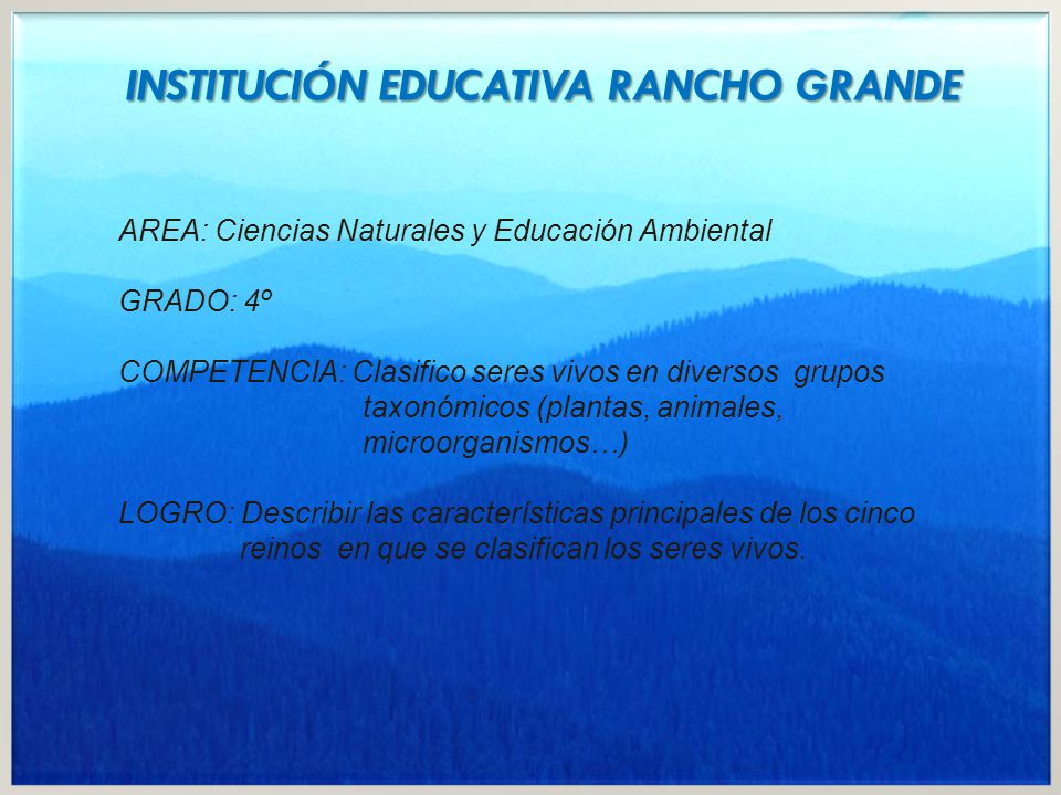 INSTITUCIÓN EDUCATIVA RANCHO GRANDE