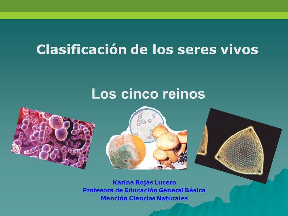 Los cinco reinos Clasificación de los seres vivos Karina Rojas Lucero