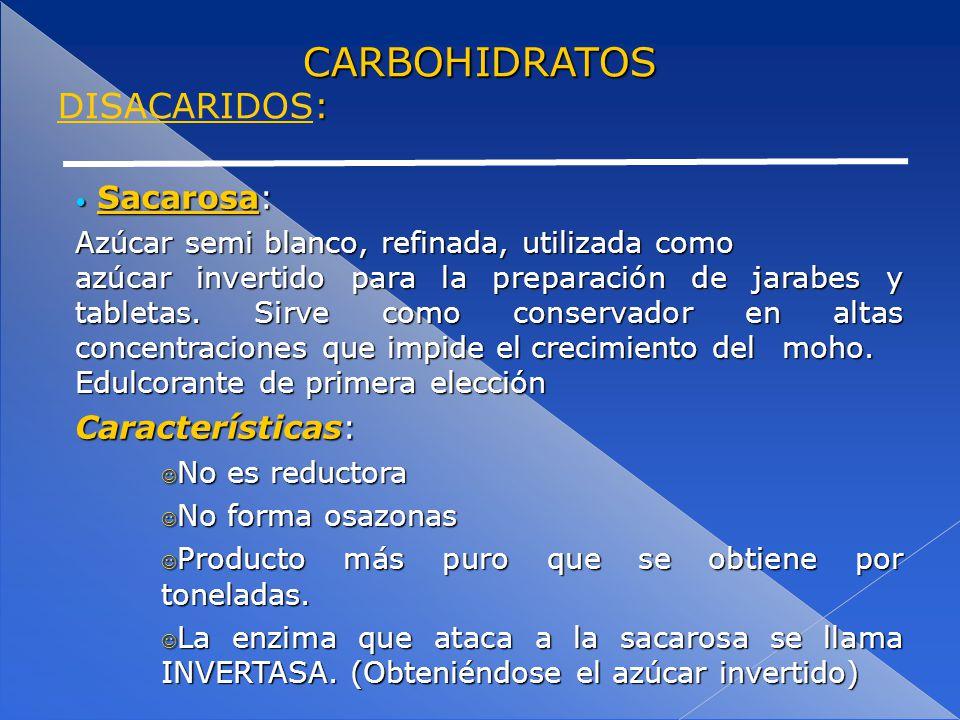 CARBOHIDRATOS MONOSACARIDOS, DISACÁRIDOS Y POLISACÁRIDOS