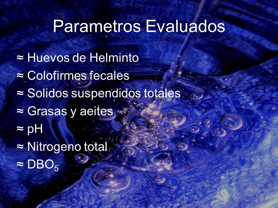 Parametros Evaluados Huevos de Helminto Colofirmes fecales