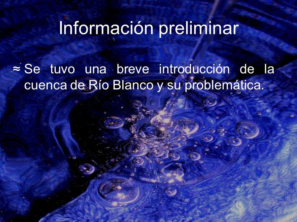 Información preliminar