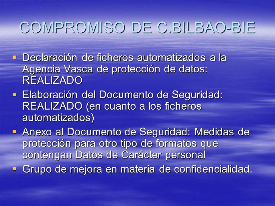 COMPROMISO DE C.BILBAO-BIE