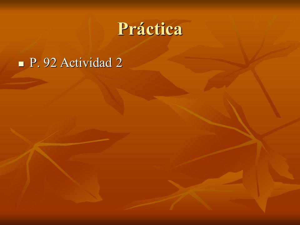 Práctica P. 92 Actividad 2