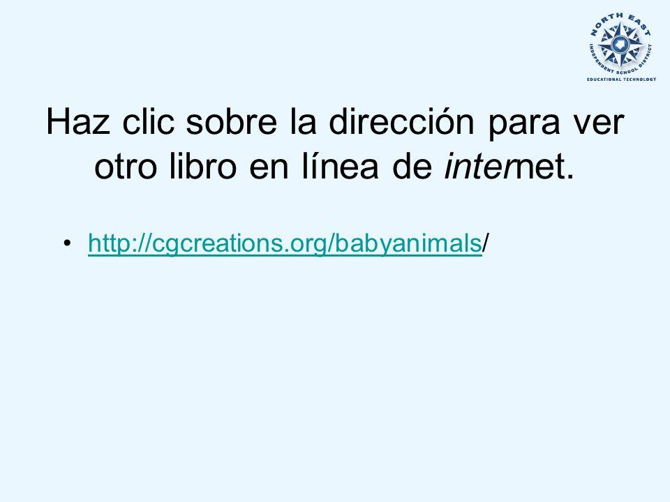 Haz clic sobre la dirección para ver otro libro en línea de internet.