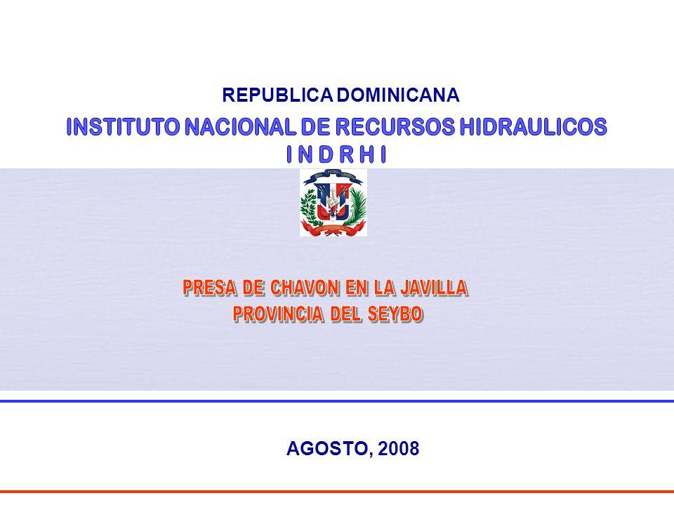 INSTITUTO NACIONAL DE RECURSOS HIDRAULICOS I N D R H I